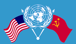 US-UN-USSR flags